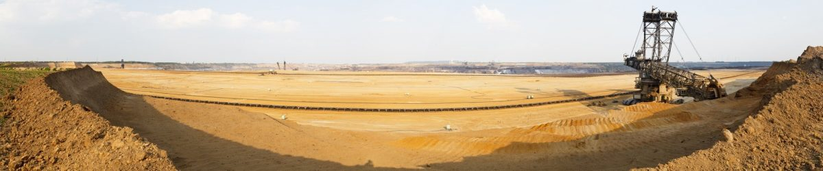 Bucket-Wheel Excavator In Mine Panorama